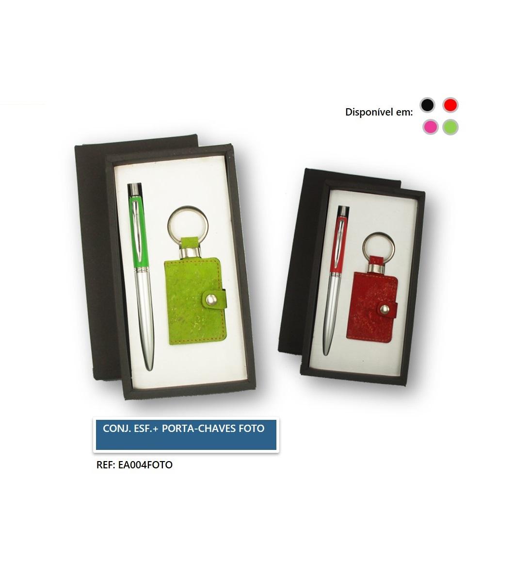 Conjunto Esferográfica + Porta-chaves Foto