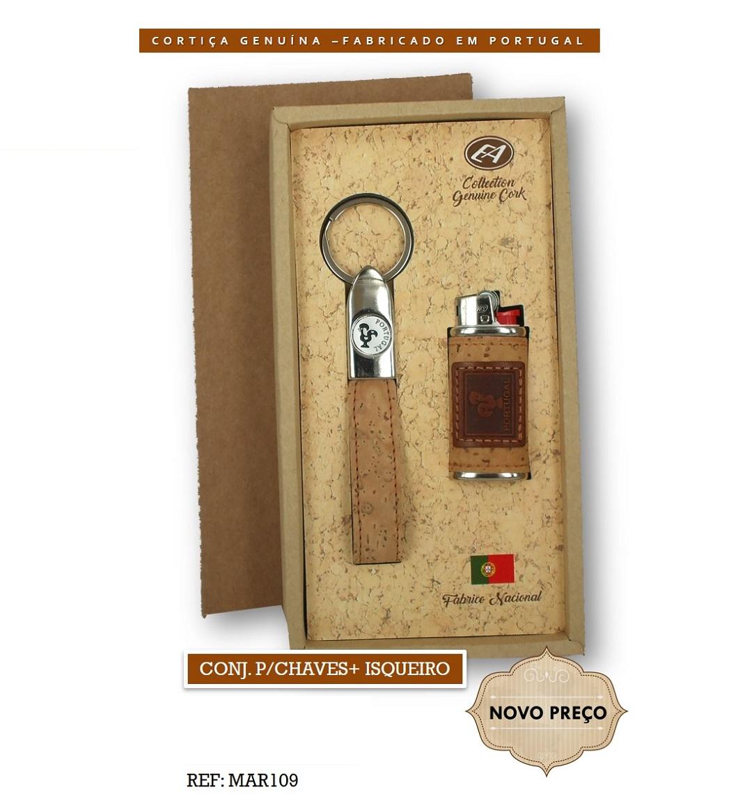 Conjunto Porta-chaves + Isqueiro